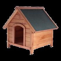 Кафява къща за куче M