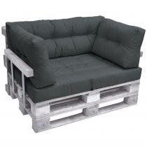 Комплект възглавници за мебел от палета ЛУКС - Тъмно сив