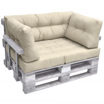 Комплект възглавници за мебел от палета ЛУКС - Бежев