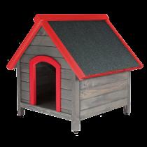 Червена къща за куче S