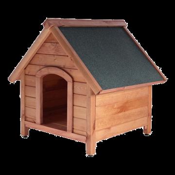 Кафява къща за кучета L