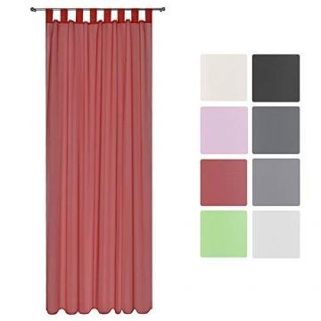 Луксозно прозрачно перде за закачане с ленти 140х245см - Различни цветове