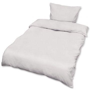 Спален комплект ранфорс Beautissu плик 155х220см и калъфка 80х80см бял