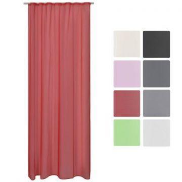 Луксозно прозрачно перде за закачане с кукички 140х245см - Различни цветове