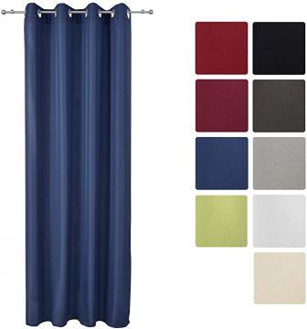Луксозно перде с лек затъмняващ ефект с вградени халки 140х175см - Различни цветове