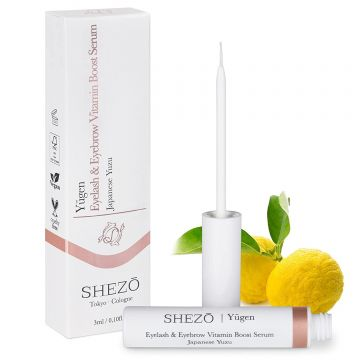 Натурален серум за мигли SHEZO 3ml, с витамин С, екстракт от юзу и хиалурон