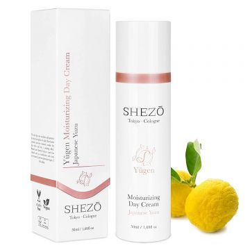 Дневен крем за лице против бръчки SHEZO 50ml с витамини С и Е, екстракт от юзу и хиалурон