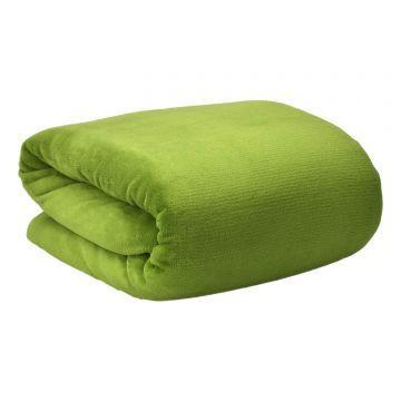 Меко поларено одеяло Beautissu Aurelia 150x200см зелено