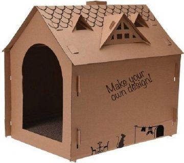Картонена къща за котка