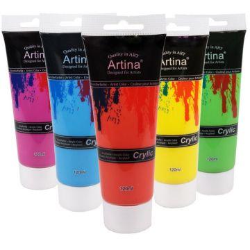Artina Crylic  Set Акрилни бои 24 цвята х 120мл.