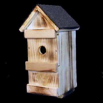 Къща за птици с два размера отвор