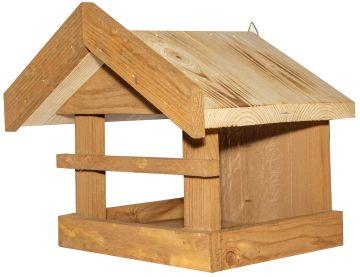 Хранилка за птички с дървен покрив