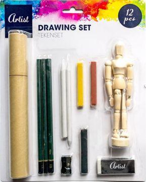 Мини комплект за рисуване с макет на човешка фигура ARTIST