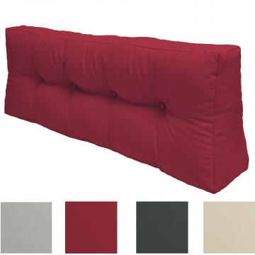 Палетна възглавница гръб  ЛУКС Beautissu 120х40х10/20см - Различни цветове