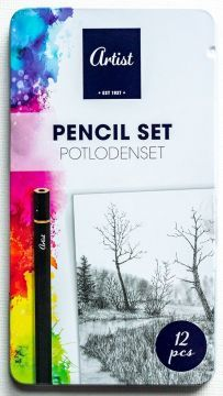 Комплект графитни моливи Artist