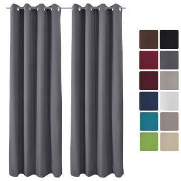 Комплект две термо пердета Beautissu с вградени халки 140х245см - Различни цветове