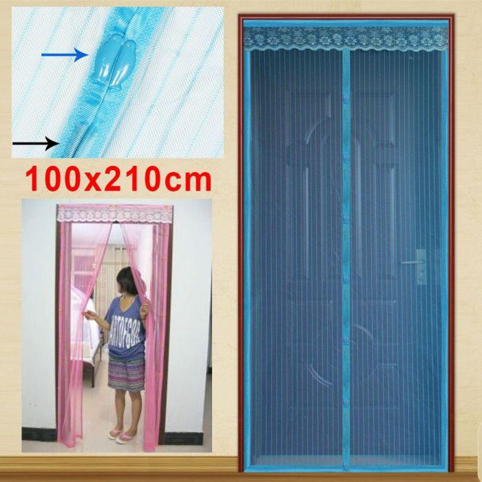 Комарник за врата с магнити мрежа перде завеса против насекоми 100x210cm