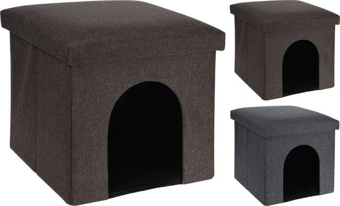 Кучешка или котешка къщичка-табуретка