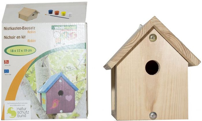 Къщичка за птички - сглоби и оцвети