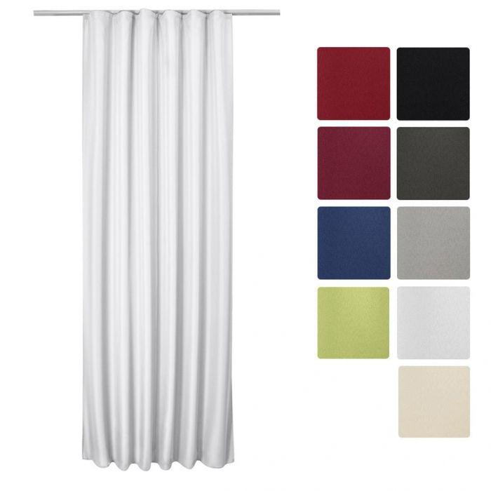 Луксозно перде с лек затъмняващ ефект за закачане с кукички 140х175см - Различни цветове