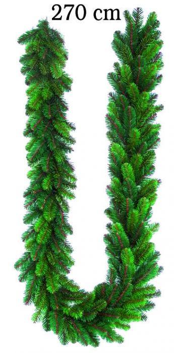 Коледен елхов гирлянд с 20 LED светлини - 270см