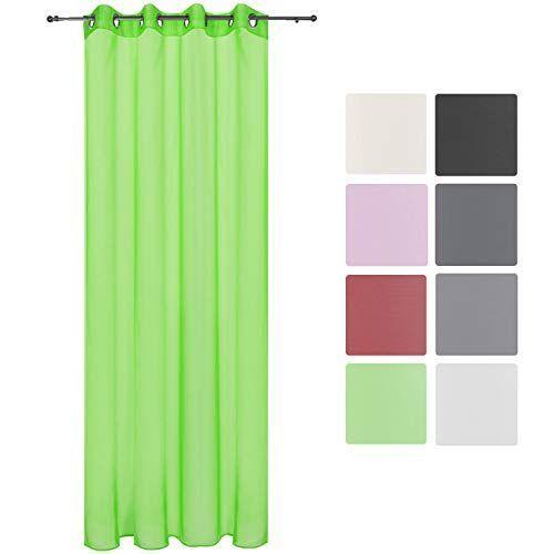 Луксозно прозрачно перде с вградени халки 140х245см - Различни цветове