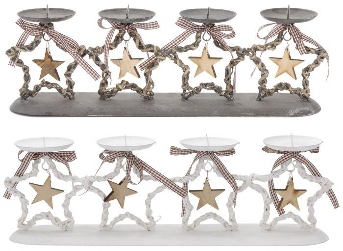 Свещник със звезди