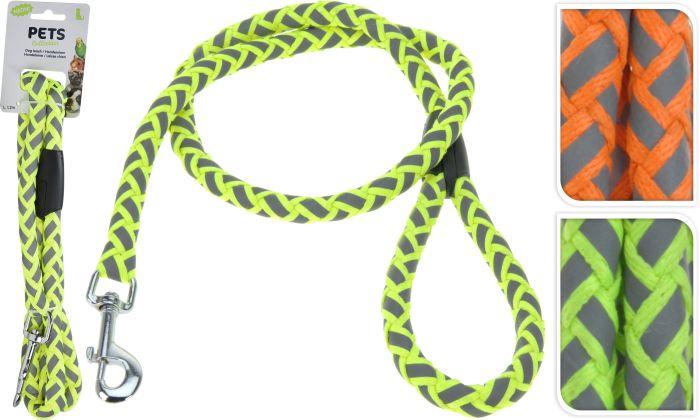 Повод за куче 120х1,2см неонови цветове
