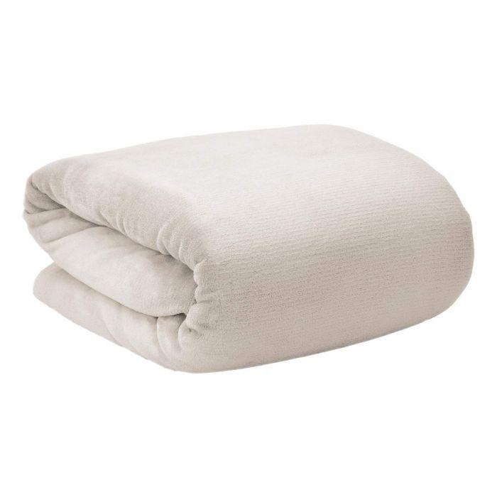 Меко поларено одеяло Beautissu Aurelia 220x240см крем