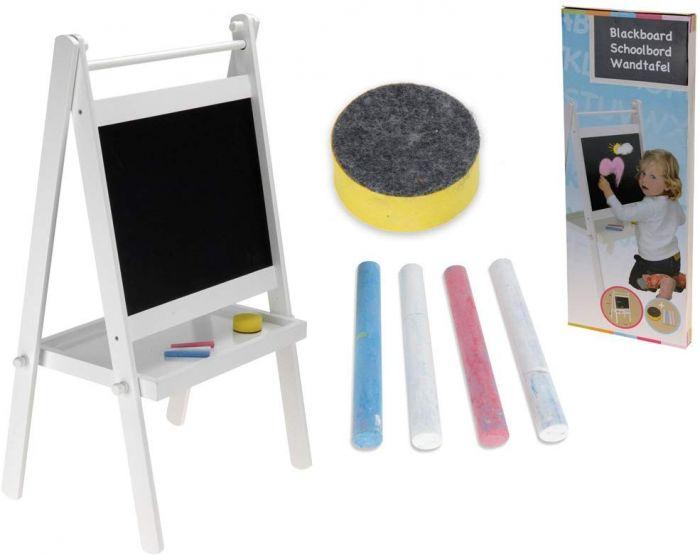 Детска дъска за рисуване с пастел или тебешир с дървена стойка