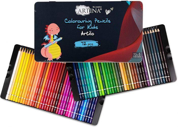 Комплект от 72 бр. детски моливи Artina Kids