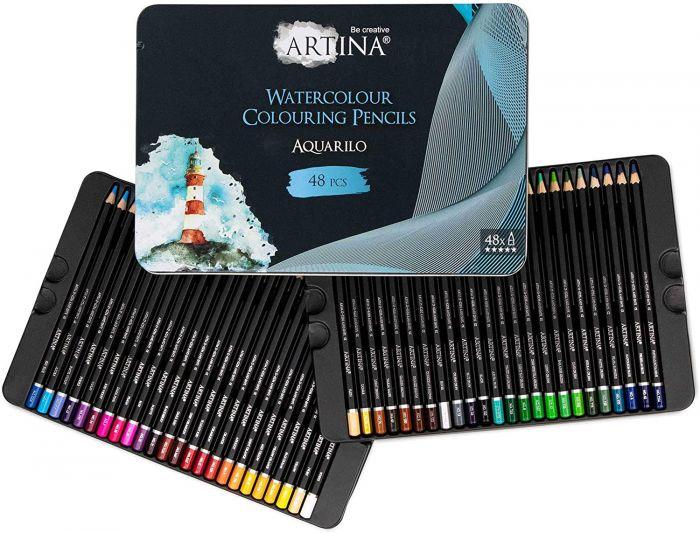 Комплект 48 бр. акварелни моливи Artina Buntstifte