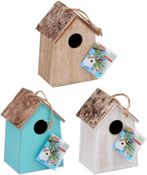 Цветна къщичка за птички с кръгъл отвор