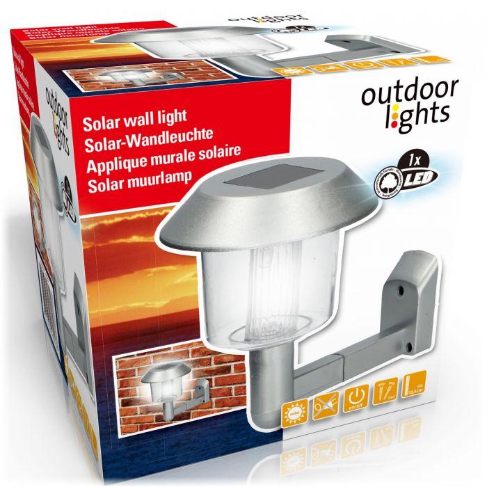 Соларна градинска LED лампа за стена