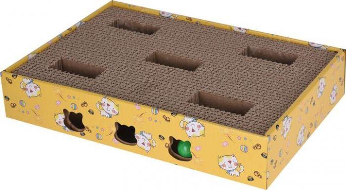 Котешка драскалка с играчки 35x25x6см