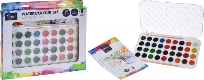 Комплект акварелни бои със скицник и четки