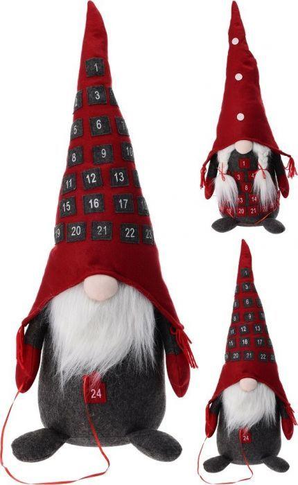 Коледен гном за декорация с календар 78см