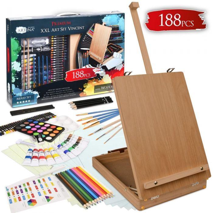 Kомплект за рисуване Винсент 188 части