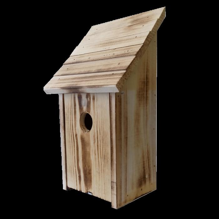 Къща за птички с надигаща се врата