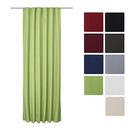 Луксозно перде с лек затъмняващ ефект за закачане с кукички 140х245см - Различни цветове