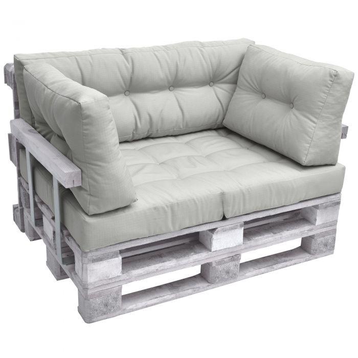 Комплект възглавници за мебел от палета ЛУКС - Светло сив
