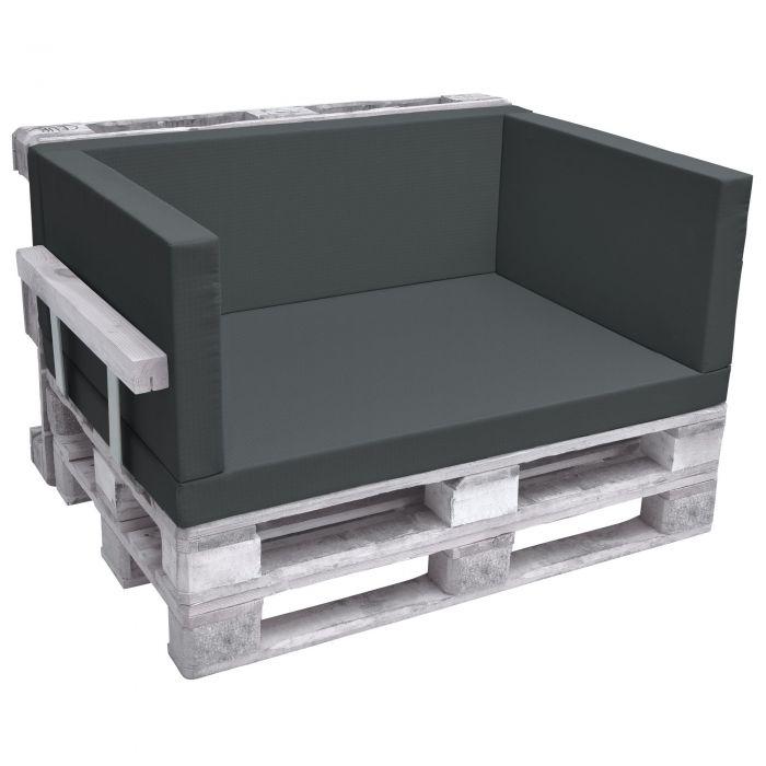 Комплект възглавници за мебел от палета - Тъмно сив