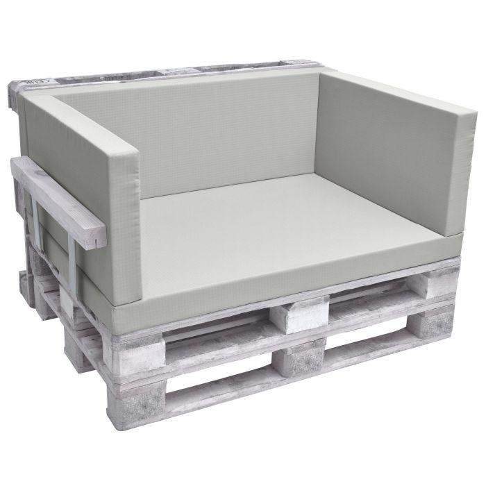 Комплект възглавници за мебел от палета - Светло сив