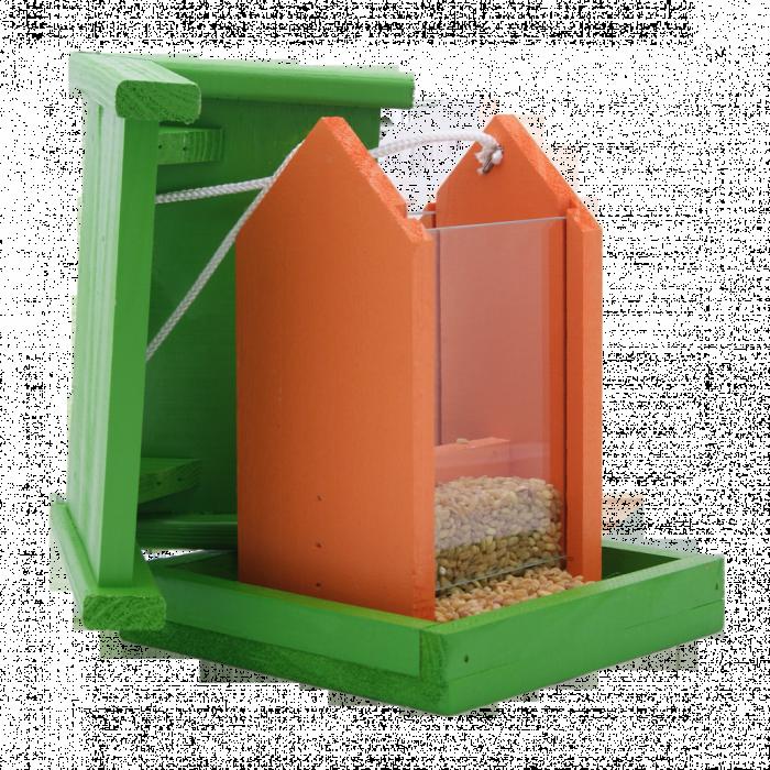 Хранилка за птици- оранжево-зелена