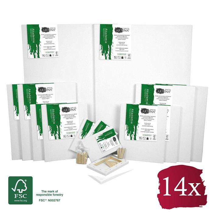 Комплект платна за рисуване Artina 14 броя със сертификат FSC®