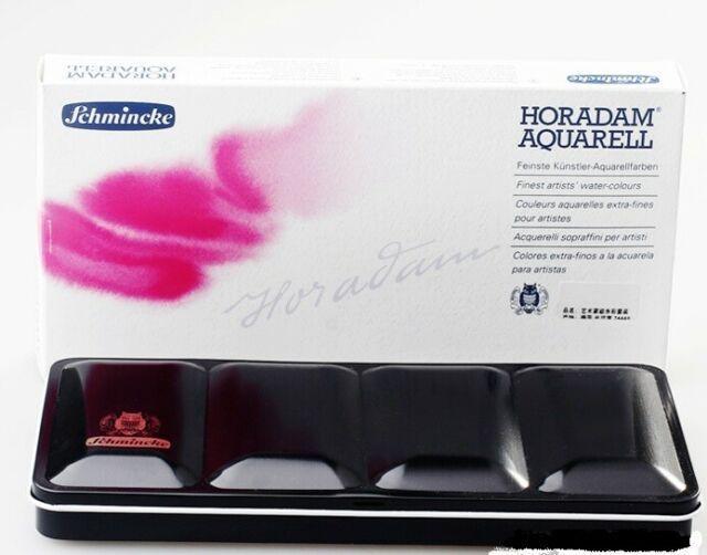 Комплект акварели Schmincke Horadam в кювети 24 цвята, в метална кутия
