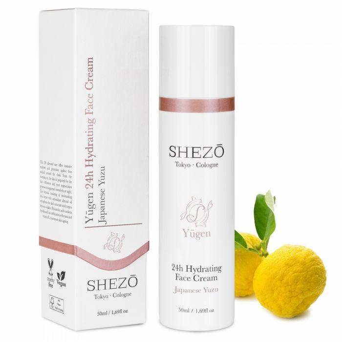 24-часов хиалуронов хидратиращ крем за лице SHEZO 50ml с витамин С и екстракт от юзу