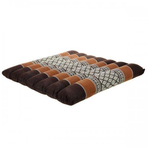 Възглавничка за йога 39х39см - кафява