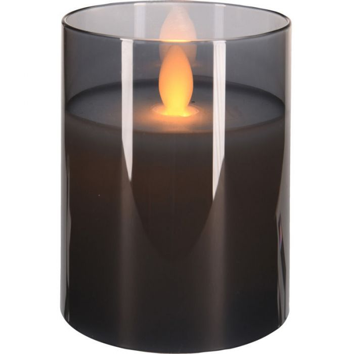 LED Свещ в стъклена чаша, 10см