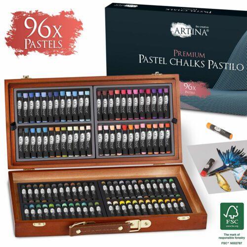 Комплект 96бр. пастели Artina Pastilo в дървено куфарче